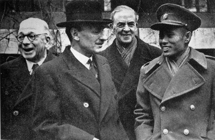Bogyoke Aung San with Clement Attlee, 10 Downing Street, January 1947.